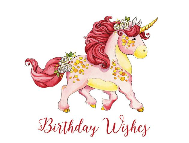 Picture of Birthday Wishes Unicorn