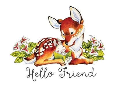 Picture of Deer Hello Friend