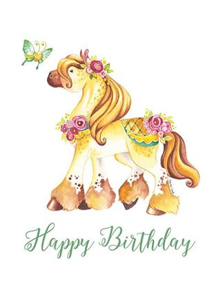 Picture of Happy Birthday Pony