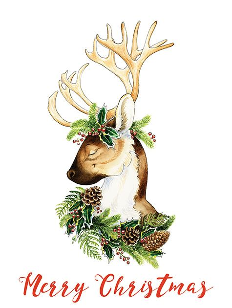 Picture of Merry Christmas Reindeer