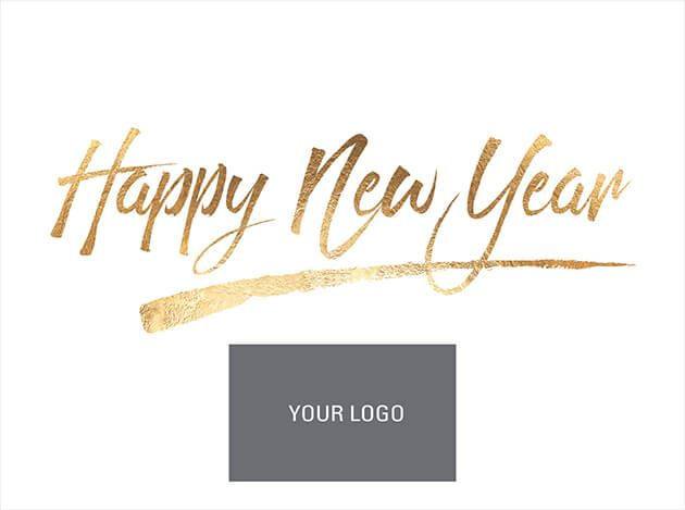 Picture of New Year Wishes in Gold - Logo