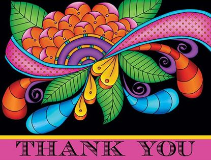 Picture of Paisley Floral Thank You Pink