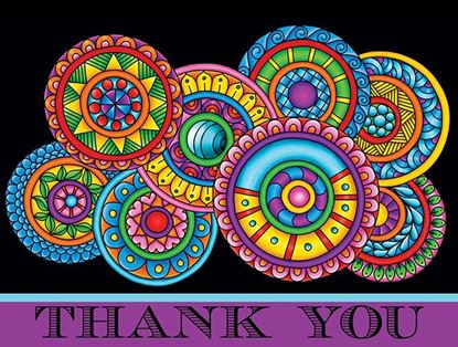 Picture of Paisley Floral Thank You Purple