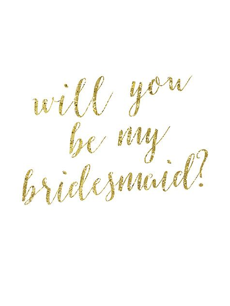 Picture of Gold Be My Bridesmaid