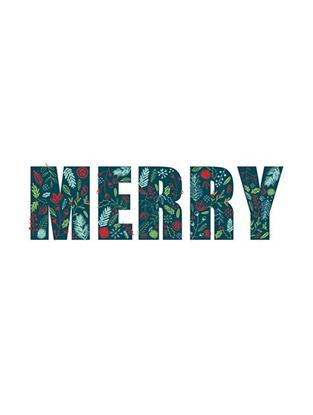 Picture of Festive Merry Motif