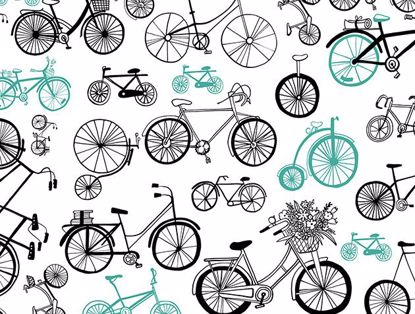 Picture of Aqua Bicycle Motif