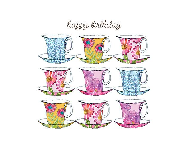 Picture of Happy Birthday Teacups