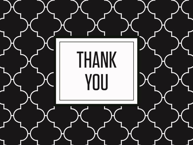 Picture of Lattice 'Thank You' Jet Black