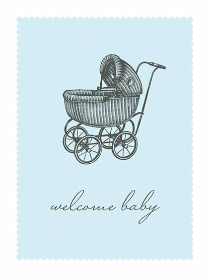 Picture of Blue Welcome Baby Pram